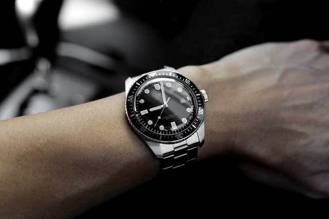 Looking at watch