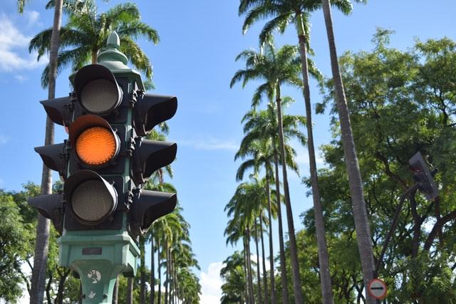 Amber Traffic Light